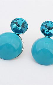 Pendiente Pendientes Gota Resina / Perla Artificial / Aleación Diamantes Sintéticos De mujeres