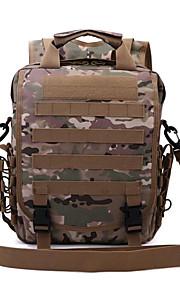 30 L mochila / Mochila Acampada y Senderismo Al Aire Libre Impermeable / Multifuncional Verde Militar Ripstop 600D