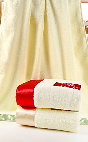 """1 Piece Full Cotton Embroidery  Bath Towel 55"""" by 27"""" Floral Pattern Super Soft"""
