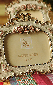 Vintage Theme Résine Cadre photo / Album photo / Plaque de porte Or / Jaune