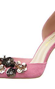 Homme-Mariage-Noir / Rose / Rouge / Gris / Kaki-Talon Aiguille-Talons / Confort / Bout Pointu-Chaussures à Talons-Daim
