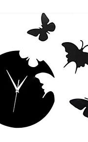 Животные Наклейки 3D наклейки / Зеркальные стикеры Декоративные наклейки на стены / Наклейки для часов,PVC материалВлажная чистка /
