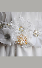 Satin / Satin/ Tulle / Organza / Dentelle Mariage / Fête/Soirée / Quotidien Ceinture-Fleur / Strass / Imitation de perle Femme 220cmFleur