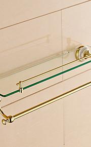 Opbevaringskurv til badet / Badeværelsesgadget / Ti-PVD / Vægmonteret /20.5*4.2*5.9 inch /Messing /Moderne /52cm 12cm 2.136KG