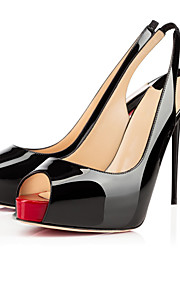 Women's Shoes Peep toe High Heels Sandals Wedding / Office & Career / Party & Evening Black / Almond