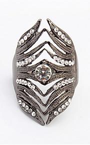 Anillos De mujeres / Hombre / Pareja Diamantes Sintéticos Aleación Aleación 10 Oro / Negro / Blanco