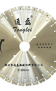 350mm diamant granitt kort tann sagblad diamant stein kutte sagblad