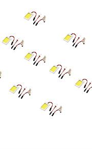 youoklight® 10stk t10 guirlande 12w 1100lm 6000K hvidt lys førte bil pære (12V)