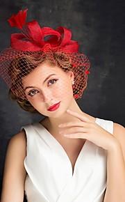 Mulheres Penas / Tule Capacete-Ocasião Especial Fascinador 1 Peça Claro Irregular 15
