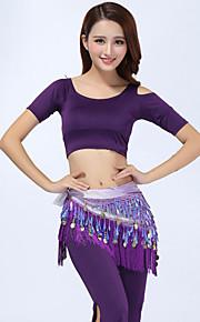Belly Dance Outfits(Tops+Pants+Waist-Chain) Women's Performance Modal Tassel 3 Pieces Green / Orange / Purple