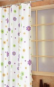 """country blomster mønster badeforhæng W71 """"× L71"""""""