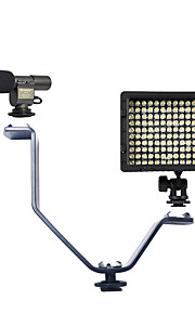 1 Set with 108 Microphone and V-type Flash Light Bracket and HY-160 Led Light