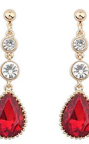 Pendiente Pendientes Gota Aleación Diamantes Sintéticos De mujeres