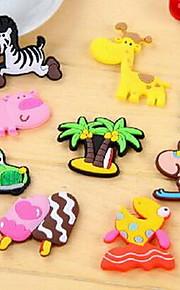 Dieren Wall Stickers 3D Muurstickers Koelkaststickers,软胶 Materiaal Verwijderbaar Huisdecoratie Muursticker