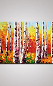 Håndmalte Landskap Moderne / Europeisk Stil,Et Panel Lerret Hang malte oljemaleri