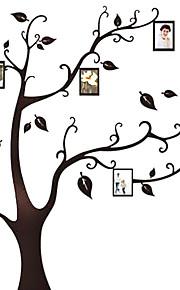 sort træ blad vægramme