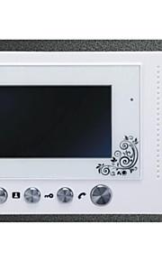 slanke design 7 tommer farve metal regn shell håndfri intercom funktion digital skærm video intercom