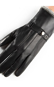 femminile dei guanti di pelle di pecora di inverno del cachemire weatherization addensato guanti di pelle bicicletta guanti da moto