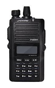 Fabriek-OEM PX-888K Walkie-talkie UHF 4W, VHF 5W 128 400-470MHz / 136-174MHz 1200mAh 3km-5kmFM-radio / Noodgevallen Alarm /