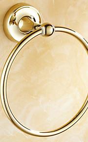 Кольцо для полотенец / Полированная латунь / Крепление на стену /20*15*20 /Медь /Античный /20 15 0.286