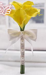 Brudebuketter Friform Peoner Dekorationer Bryllup Polyester 6.3 tommer (ca. 16cm)