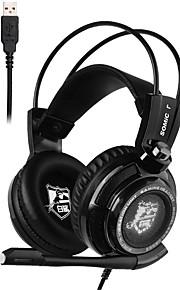 Somic G941C Høretelefoner (Pandebånd)ForComputerWithMed Mikrofon / DJ / Lydstyrke Kontrol / Gaming / Lyd-annulerende / Hi-Fi