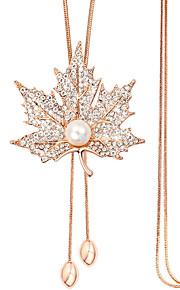 Modische Halsketten Anhängerketten Schmuck Aleación / Künstliche Perle / Strass / versilbert / Rose Gold überzogenHochzeit / Party /