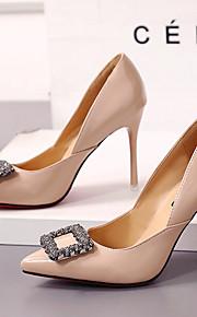 Homme-Mariage / Bureau & Travail / Décontracté-Noir / Gris / Beige-Talon Aiguille-Bout Pointu-Chaussures à Talons-Similicuir
