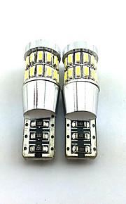 2pcs T10 3014 * 30smd 2W lámpara 6000-6500K decodificación de luz blanca para coche 12v