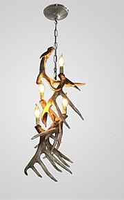 vintage Antler chandelier lighting Industrial Fixture Country 4-Lights Fit for Living Room Dining room Easy Installation