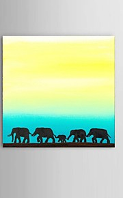 Dipinta a mano Astratto / Paesaggi / Animali / Fantasia Dipinti ad olio,Modern / Classico / Stile europeo Un Pannello TelaHang-Dipinto ad
