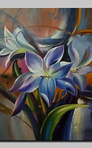Peint à la main A fleurs/Botanique Peintures à l'huile,Modern Un Panneau Toile Peinture à l'huile Hang-peint For Décoration d'intérieur