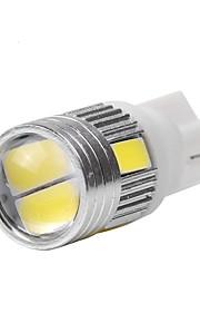 10st t10 5630 6SMD 12V 5colors len deur lamp, looplamp kentekenverlichting leeslampje