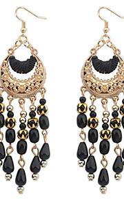 Forme Géométrique,Bijoux 1 paire Gland / A la Mode / Bohemia style Noir / Blanc / Rouge / Vert Cristal / Alliage / Plaqué orMariage /