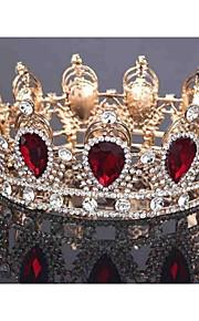 Dame Legering Headpiece-Bryllup Diademer 1 Deler Blå / Rød Pære 48cm