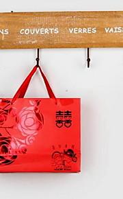 roupa do vintage de revestimento de madeira ganchos ganchos de parede decorativo da porta traseira (cor aleatória)