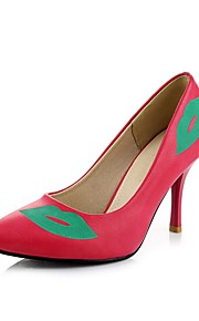 Homme-Mariage / Habillé-Noir / Rose / Pêche-Talon Cône-Confort / Bout Pointu-Chaussures à Talons-Similicuir