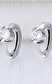 Boucle Forme Géométrique Bijoux 1 paire Mode / Adorable Mariage / Soirée / Quotidien / Décontracté Argent sterling / Zircon Femme Argent