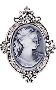 damesmode diamante kristal antiek zilver vintage broche pinnen sieraden koningin strass party broches