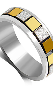 Ring Fashion Wedding / Party Jewelry Alloy Women Statement Rings 1pc,6 / 7 / 8 / 9 Gold / Black / Silver