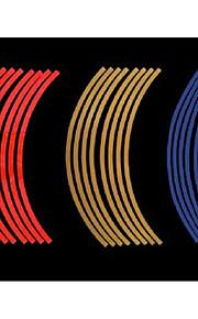 uno pneumatico auto ruota da 17 pollici, a nome di 10 mm adesivo anello riflettente / ruota 7-2d \ 444