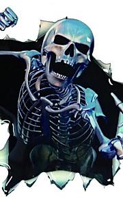 adesivi per auto, adesivi scheletro di personalità corpo