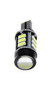 2pcs poder más elevado blanco t15-5630-negro (+ 12SMD 1cob) copia de seguridad del canbus inversa dc12v lámpara
