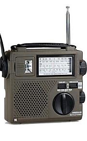 High Sensitivity Portable Radio Full World Band / Economic / Environmental / Dynamo Radio Hand Crank rechargable Radio