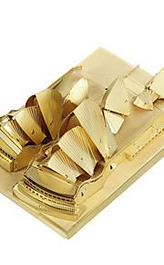 Rompecabezas juguete de la novedad / Puzzles de Metal Bloques de construcción Juguetes de bricolaje Edificios famosos 1 Metal Dorado