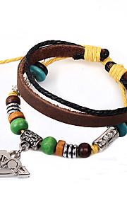 Chaînes & Bracelets / Charmes pour Bracelets / Bracelets Wrap / Bracelets en cuir 1pc,Crossover / A la Mode / Vintage / Style Punk /