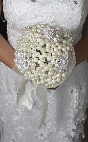 Brudebuketter Rund Roser Buketter Bryllup Perle 7.09 tommer (ca. 18cm)