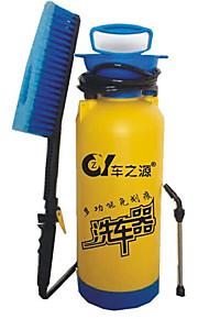 manuelt bærbare husstand vask værktøjer bilvask 8 liter blå med en børste