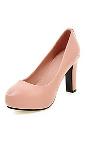 Women's Heels Summer / Fall Heels / Round Toe PU Office & Career / Casual Chunky Heel Others Black / Pink / White /