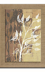 Oil Painting Modern Abstract Scenery Flowers Hand Painted Natural Linen With Stretched Frame
